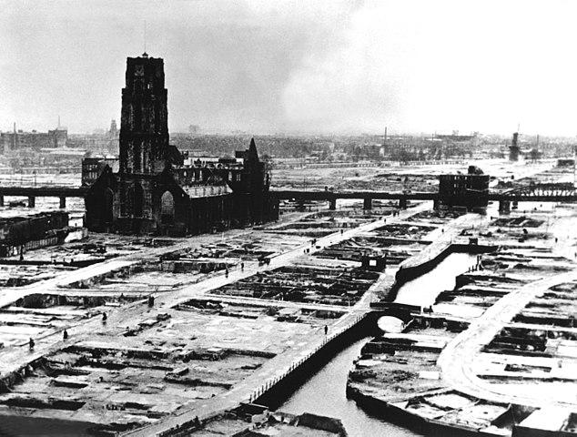 reconstrucción de Róterdam tras el bombardeo