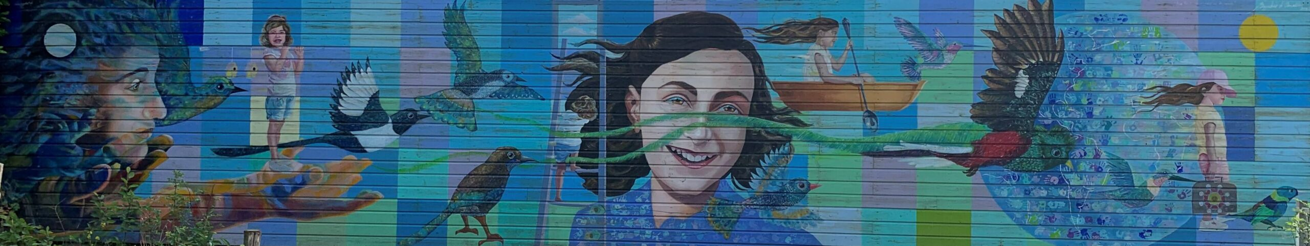 Mural de Ana Frank en Ámsterdam